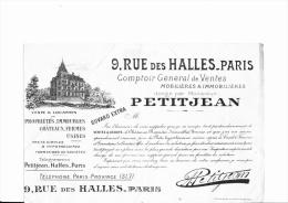 BUVARD PETIT JEAN - 9 RUE DES HALLES PARIS - Bank & Insurance