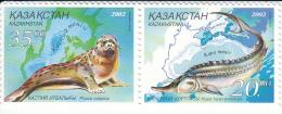 Kazakhstan 394/395 Dieren Zwarte Zee En Kaspische Zee - Kazakhstan
