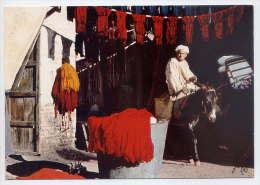 Maroc--MARRAKECH--Le Souk Des Teinturiers (animée, âne ) Cpm   N° 5257 B  éd  Jeff édition - Marrakech