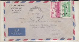 LIBAN - 1952 - ENVELOPPE Par AVION De BEYROUTH Pour WILMINGTON (USA) - Liban