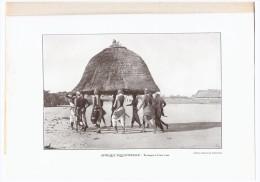Photographie  Afrique    Le Transport D Une Case - Vecchi Documenti