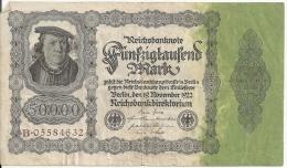 ALLEMAGNE 50000 MARK 1922 VF P 79 - [ 3] 1918-1933 : Weimar Republic