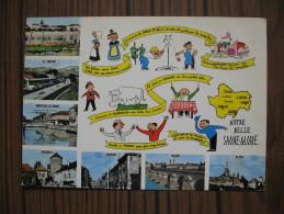 Multivues De Saône Et Loire     Chalon, Le Creusot, Montceau Les Mines, Charolles, Louhans, Macon, Autun - France