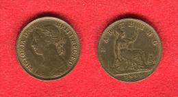 GRANDE BRETAGNE - GREAT BRITAIN - UNITED KINGDOM - VICTORIA - FARTHING 1894 - HIGH GRADE - 1816-1901 : Frappes XIX° S.