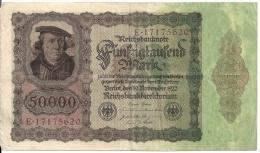 ALLEMAGNE 50000 MARK 1922 VF P 80 - [ 3] 1918-1933 : Weimar Republic