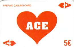 GREECE - Ace Prepaid Card 5 Euro, Used - Jeux