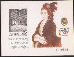 ESPO21-L1572THC.Spain.Espagne.Exposicion Filatelica Nacional.Zaragoza..ESFILN A 90 .1990.(Ed  PO 21) Sin Charnela. - Hojas Conmemorativas