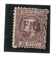 Pays-Bas - Poste N°12 Oblitéré Trés Beau Premiér Choix - Period 1852-1890 (Willem III)