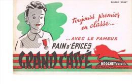 Buvard Pain D´épices Grand Casse Brochet Besançon - Pain D'épices