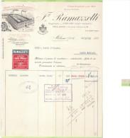 1933- FATTURA PUBBLICITARIA-MILANO-F.LL I RAMAZZOTTI-ELIOR GRAN LIQUORE D'ITALIA - Francia