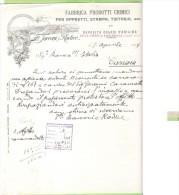 1933- FATTURA PUBBLICITARIA-MILANO-F.LLI FACCONI  E RADICE-FABBRICA PRODOTTI CHIMICI PER APPRETTI,STAMPA,TINTORIA ECC. - Francia