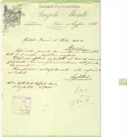 1898- FATTURA PUBBLICITARIA-MILANO-ANGELO MONTI-FABBRICA PASSAMANERIA - Francia