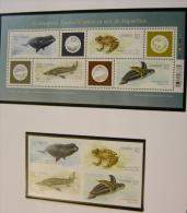 Canada 2229-33 Endangered Animals Fauna Whale Frog Sturgeon Turtle Self Adhesive And Souvenir Sheet Block MNH 2007 A04s - Sammlungen