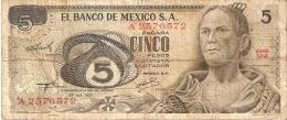 BILLETE DE MEXICO DE 5 PESOS  AÑO 1971  (BANKNOTE) - Mexique