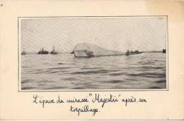 L'EPAVE DU CUIRASSE MAJESTIC  APRES SON TORPILLAGE  PHOTO - Boats