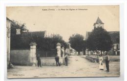 89--LAIN  - La Place DE L EGLISE ET L' ABREUVOIR-RECTO/VERSO   -E10 - France