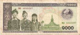 BILLETE DE LAOS DE 1000 KIP DEL AÑO 2003 (BANKNOTE) - Laos
