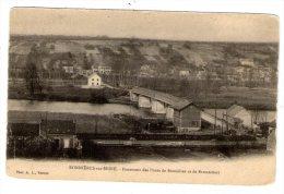 Cp , 78 , BONNIERES SUR SEINE , Panorama Des Ponts De Bonnières Et De Bennecourt , Dos Simple , Vierge - Bonnieres Sur Seine