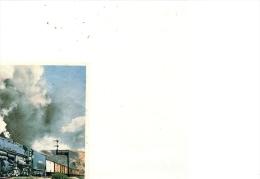 IMAGE DE LA COLLECTION CHOCOLAT POULAIN--SERIE 3--CHEMIN DE FER--LOCO AMERICAINE BIG BOY-- - Fiches Illustrées