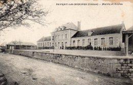 -CPA - 23 - PEYRAT-LA-NONIERE - Mairie Et école - Ecoliers Devant - 238 - France