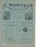 LE MONITEUR Des Professions Rurales Charronnage, Carrosserie, Maréchalerie, Mécanique - 3eme Ann. N° 24 - 5 Avril 1925 - Livres, BD, Revues