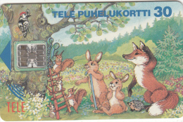 FINLAND - Rabbits & Fox, 03/94, Used - Konijnen