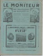 LE MONITEUR Des Professions Rurales Charronnage, Carrosserie, Maréchalerie, Mécanique - 3eme Ann. N° 22 - 5 Fév 1925 - Livres, BD, Revues