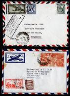 A2000) France Frankreich Indochina 2 Briefe Von 1948 Nach Frankreich - Indochina (1889-1945)