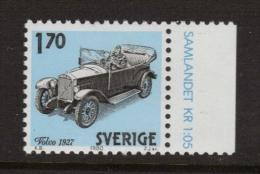 OLD CAR VOLVO 1927 SWEDEN SUEDE SCHWEDEN 1980 MI 1123 MNH Cars VIEILLE VOITURE ALTES AUTO - Coches