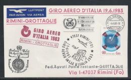 AAA--159.-TOUR D´ ITALIE 1983,  RIMINI - GROTTAGLIE - 19.06.1983 -  Je Liquide !! - Poste Aérienne