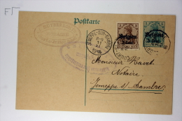Belgium: Postcard 1916 , Mi P9 II, CV 40 Euro, Mit Zusatzfrankatur, Upgraded, Court Jemeppe-sur-Sambre