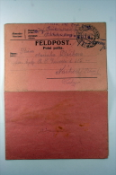 Poland: Feldpost Polni Posta Card Letter RRR, 1916 KuK Postamt To Nachod, Complete Letter With Dried Flowers,