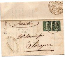 1879  LETTERA CON ANNULLO BUSSETO PARMA  + POLESINE IN CORSIVO - 1878-00 Umberto I