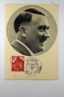 Deutsche Reich Postkarte 1939 Hitler  7 Cancels And 6 Stamps - Deutschland