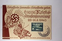 Deutsche Reich Postkarte 6. WHW Reichs Strassensammlung 1940, Mi 705