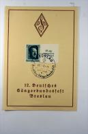 Deutsche Reich Postkarte Erinnerungsblatt 12. Deutsche Sangerbundesfest Breslau