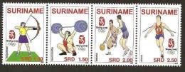 Surinam / Suriname 2008 Archery Weightlifting Running Basketball MNH - Zomer 2008: Peking