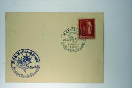 Deutsche Reich Postkarte Kraft Durch Freude, Kolonial-Schau  Hamburg 1940, Mi 664