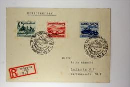 Deutsche Reich Einschreiben R Brief, 1939 Mi 686-688 Special Stempel Nürburgring