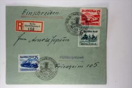Deutsche Reich Einschreiben R Brief, 1939 Mi 686-688 Special Stempel Berlin Charlottenburg