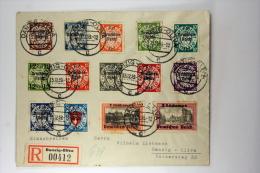 Deutsche Reich Einschreiben R Brief 1939, Mi 716-729, Danzig Olivia