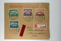 Deutsche Reich General Gouvernement  Einschreiben / Eilboten Brief Mi 92 - 95