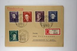 Deutsche Reich General Gouvernement  Einschreiben  Brief Mi 96-100, Krakau