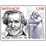 Monaco 2013 Birth Giuseppe Verdi Music Opera Art Traviata Musique 1v Mnh ** - Musique