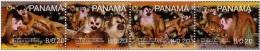 Panama 2007 - Monekey, Se Of 4 Stamps In Strip, MNH - W.W.F.