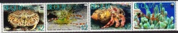 Bequia - Sea Life, Set Of 4 Stamps In Strip, MNH - W.W.F.