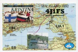 QSL-CARDS - AK 158477 Russia - Malyj Vysotskij Island - Radio Amatoriale