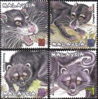 2000 Protected Mammal II Animal Cat Malaysia Stamp MNH - Malaysia (1964-...)