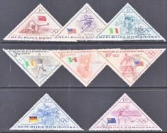 Dominican Republic  484-8, C 103-5  (o)  OLYMPICS  FLAGS  SPORTS  TRIANGLES - Dominican Republic