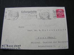 == DR Briefstück Cover Part  Ludwigshafen Festwoch, Kofsteher Im Stempel 1938 - Gebraucht